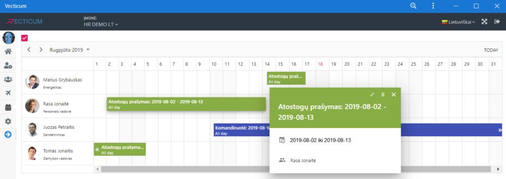 Atostogų kalendorius